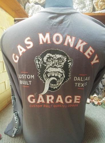 gas monkey nascar autos poleras team  u.s.a. (xl)