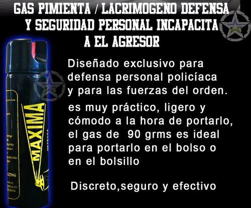 gas pimienta lacrimogeno 90 grms paquete de 6 piezas promo