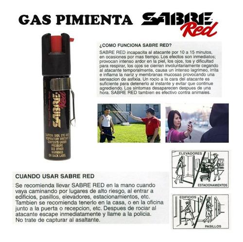gas pimienta sabre red defensa personal made in usa