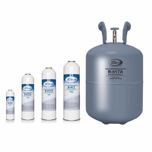 gas refrigerante r-134a, r-410a, r-417a y r-404a