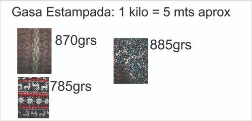 gasa estampada 2.5kl (13mts aprox)