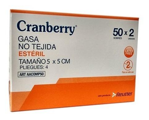 gasa esteril no tejida 5 x 5 cm cranberry - pack 250 sobres