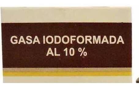 gasa iodoformada al 10%