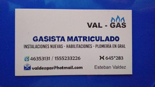 gasista matriculado-plomero  46353131 / 1555233226