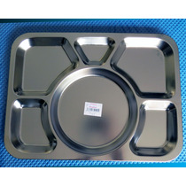 Bandeja Casino Rectangular Acero Inoxidable - 39 X 29 Cms