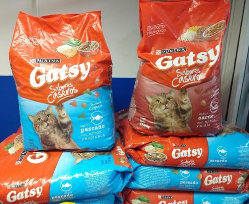 gatarina gatsy 17kg, presentacion de carne y pescado