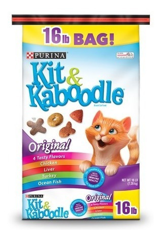gatarina purina kit kaboodle 7.3 k alimento comida gato 16lb
