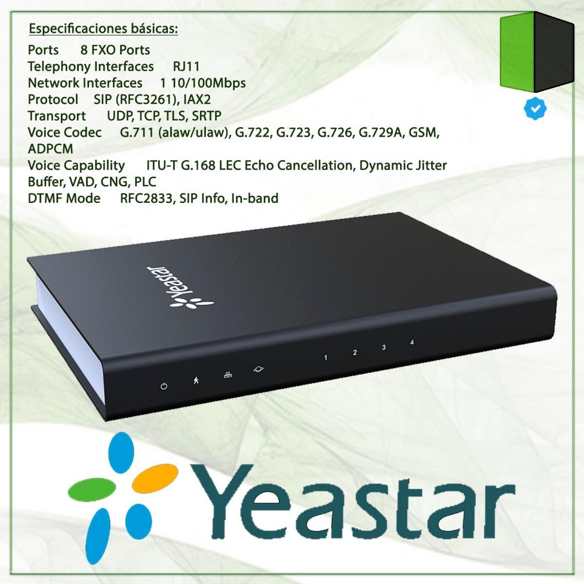 Yeastar 8 port fxo gateway