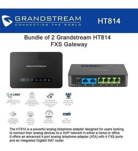 gateway grandstream ht814 ata 4 fxs sip gigabite 3 via
