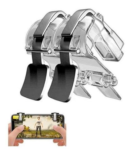 gatillos botones joystick r1l1 pubg mobile freefire metal