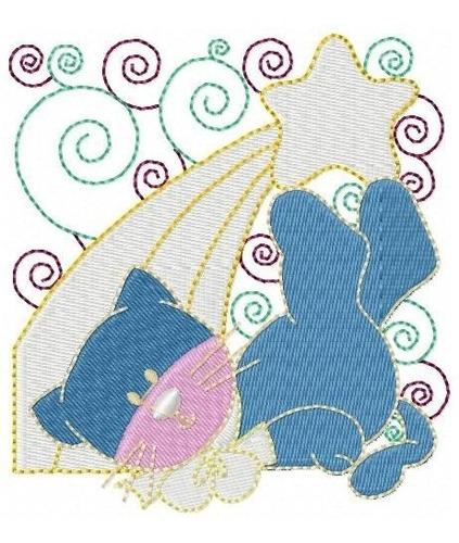 gatinhos natal blok - coleção de matriz de bordado