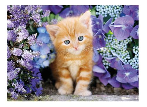 gatito entre flores 500 pz rompecabezas clementoni