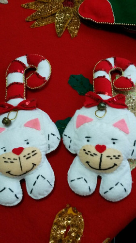 gatitos navideños para las puertas
