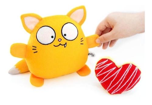 gato amarillo peluche nombre personalizado cumpleaños fiesta