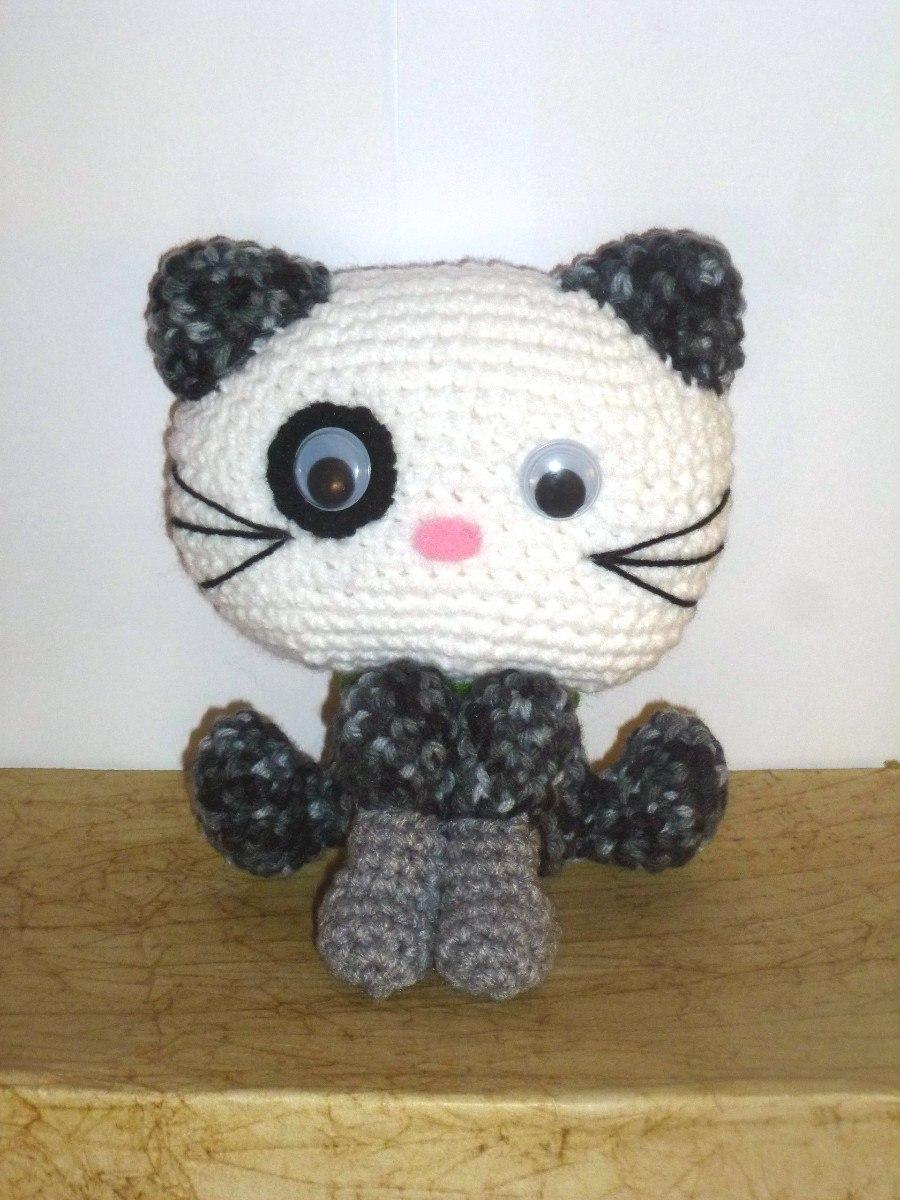 Gato Amigurumi Tejido Crochet Artesanal. - $ 430,00 en Mercado Libre