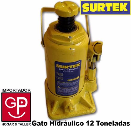 gato botella hidráulico 12 toneladas surtek