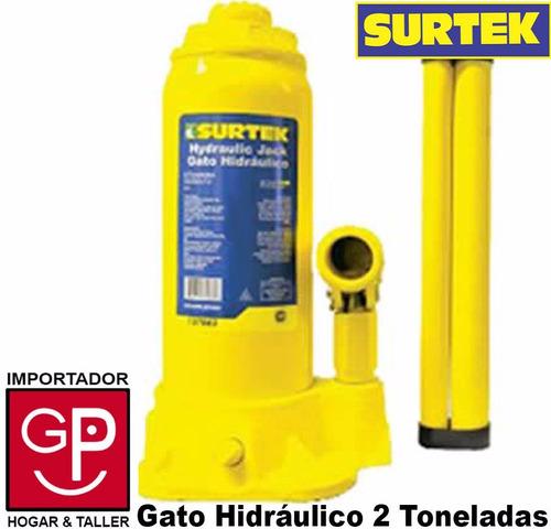 gato botella hidráulico 2 toneladas  surtek