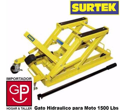 gato carro hidráulico para moto 1500 lbs. surtek