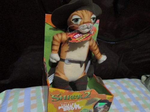 gato con botas  parlante hermoso de la pelicula sherk 2