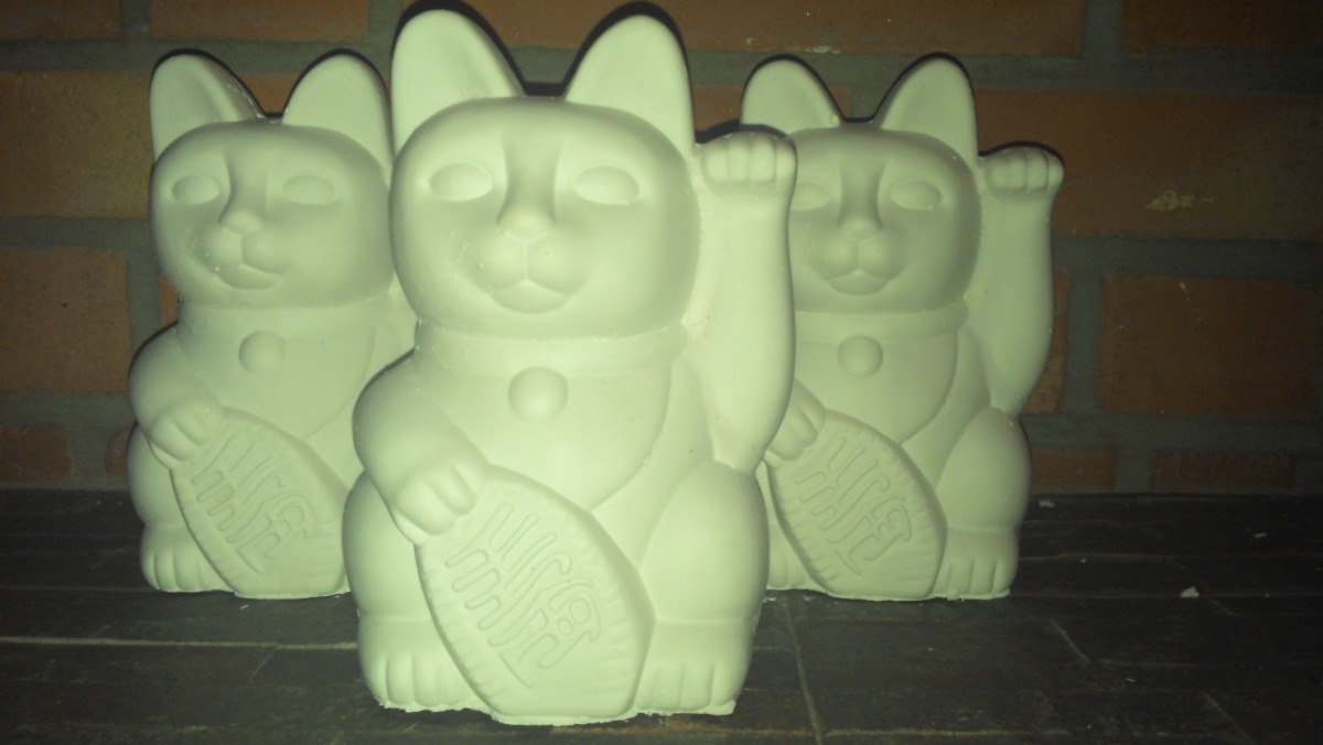 Gato De La Fortuna, Gato De La Suerte En Yeso Para Pintar - $ 35,00 ...