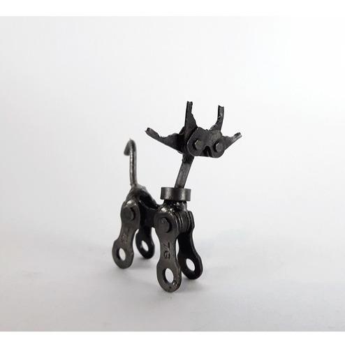 gato decorativo - gato metálico adorno reciclado
