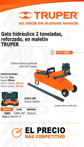 gato hidraulico 2ton reforzado truper cod.. 14826