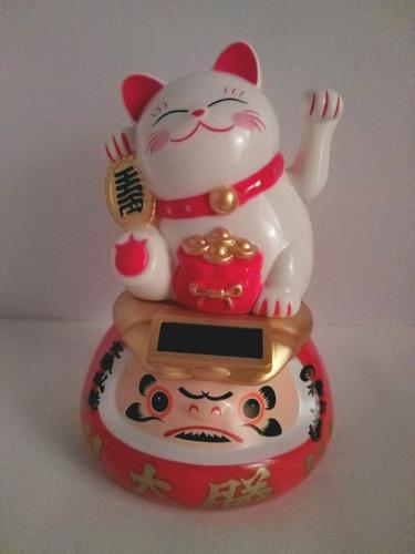 gato japonés suerte manekineko/daruma (solar) envío gratis