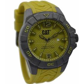 Gato Karbon De Los Hombres Reloj Militar Verde Dial 45,5mm D