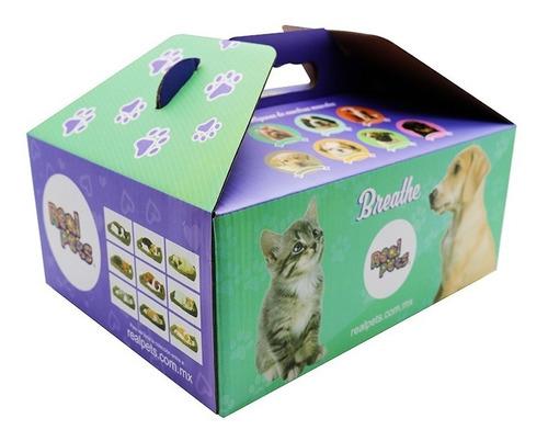 gato peluche mascota que respira, realpets, varias razas