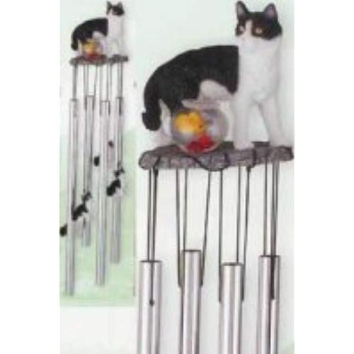 gato windchime jardín decoración coleccionable