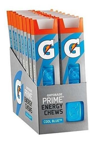 gatorade prime energy chews, cool blue (paquete de 16)