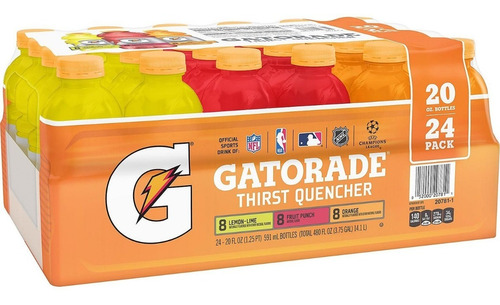 gatorade sabores clásicos (paquete de 24 unidades)