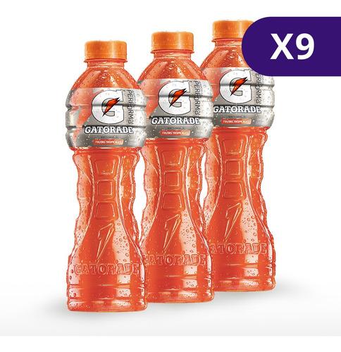 gatorade tropical botella de 500ml. 9 unidades