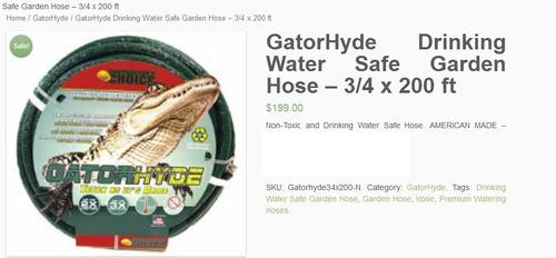 gatorhyde manguera de 3/4 x 200 ft (60 mts) made in usa