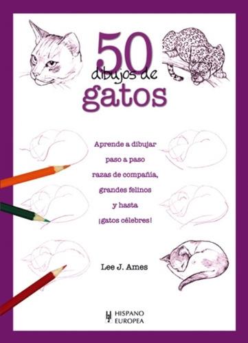 gatos 50 dibujos de, lee j. ames, hispano europea