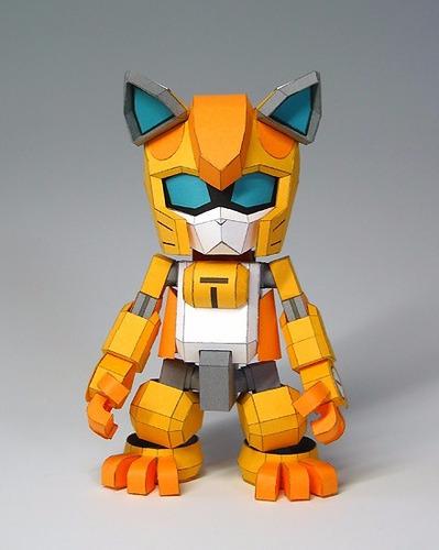 gatos robots  (para armar en papel)