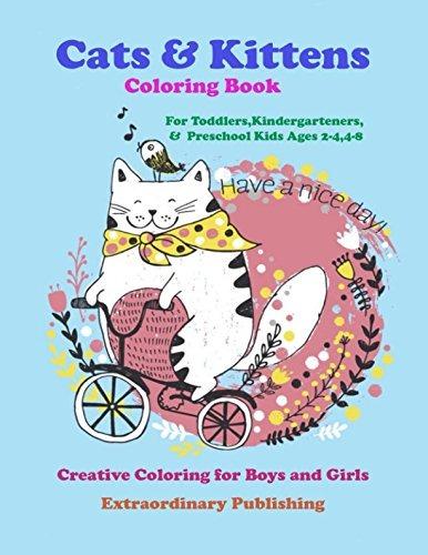 Gatos Y Gatitos Libro Para Colorear Para Niños De Jardín D