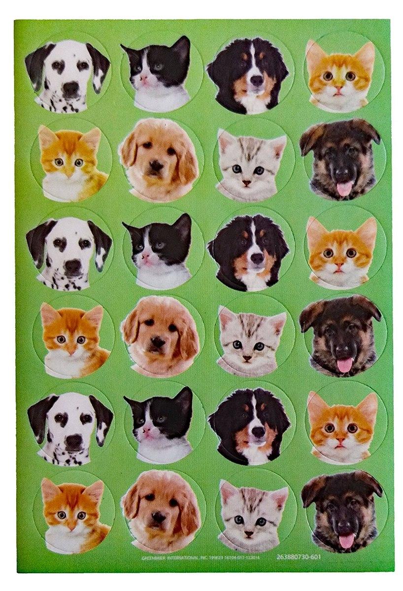 Gatos Y Perros Para Colorear Libro, Una Caja De Crayones Y 1 ...