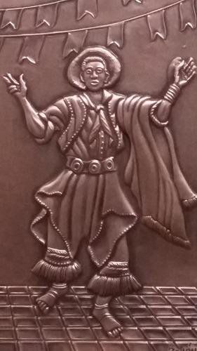 gaucho, tam. 16x27 cms. alto relevo em cobre  r$ 120,00