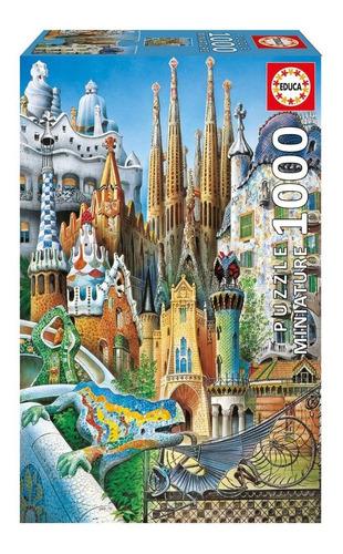 gaudi collage rompecabezas miniatura 1000 piezas