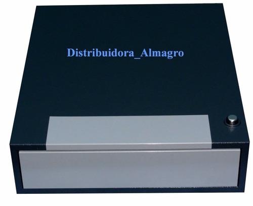 gaveta caja dinero 5 billetes c/secreter  metálica -video