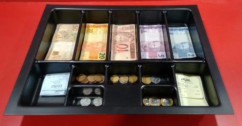 gaveta de dinheiro niqueleira  pc 24 kit com 4 peças