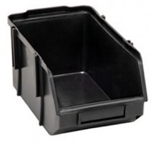 gaveta plástica preta nº3 bin - embalagem com 72 peças