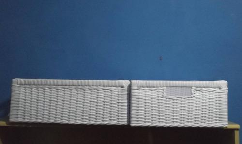 gaveta vime sintético 25x50x25 alt branca fret grat tdo país