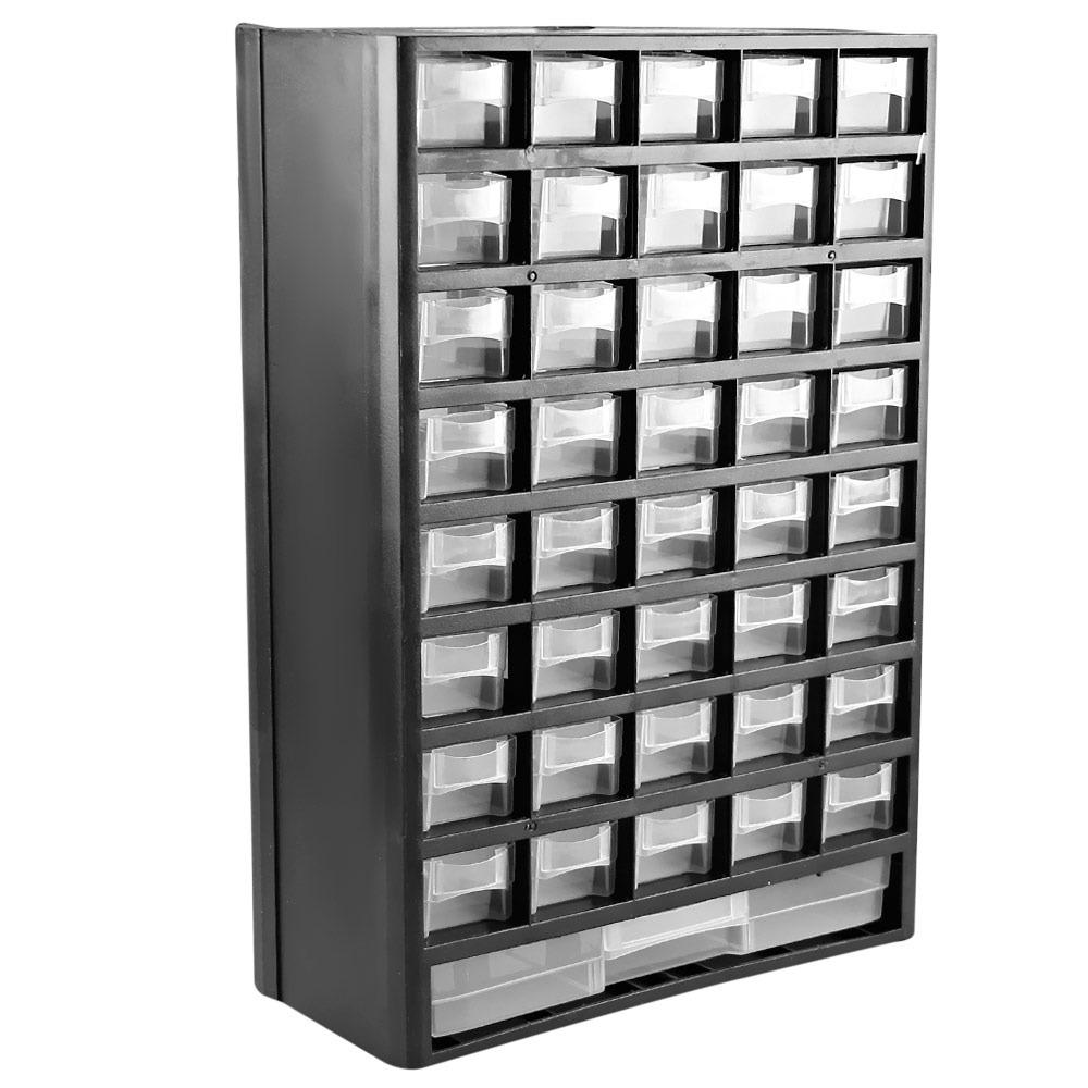 Gaveteiro caixa organizador plastico 41 gavetas 300x490x138m r 198 82 em mercado livre - Organizador armarios ...