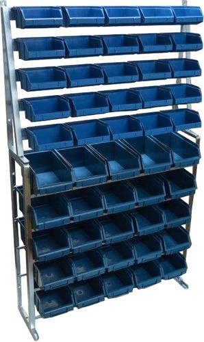 gaveteiro estante com 50 gavetas bins nº 1 e 3  organizador