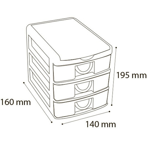 gaveteiro organizador caixa