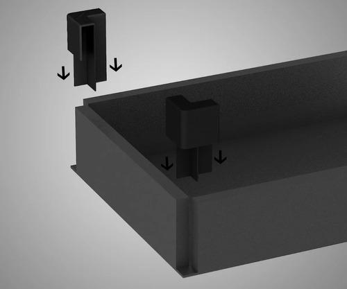 gaveteiro para mesa escrivaninha  c/ 02 gavetas  ameixa/pto