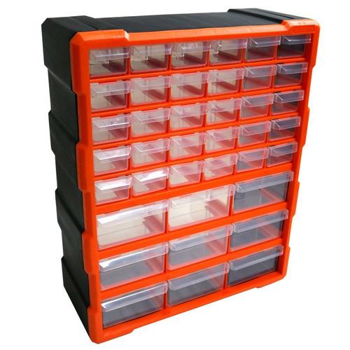 gavetero organizador 39 cajones tactix plastico 320636