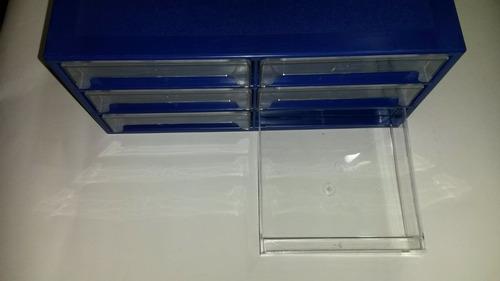 gavetero plástico con cajones de acrílico oferta!